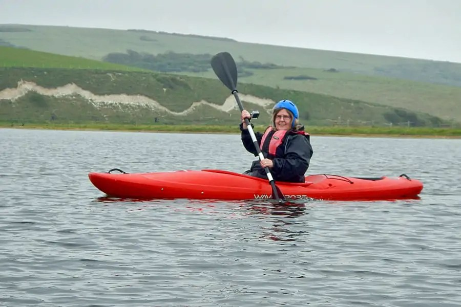 Kayaking on Cuckmere River in Seven Sisters Country Park, near Eastbourne,East Sussex, England
