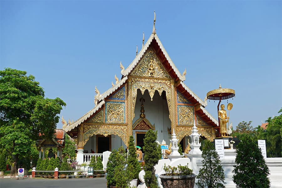 Wihan Luang in Wat Phra Singh temples complex in Chiang Mai, Thailand