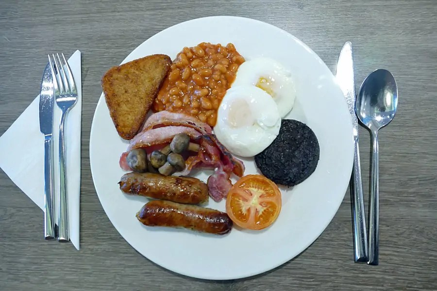 Breakfast at The View hotel in Eastbourne, East Sussex on the south coast of Eng;and