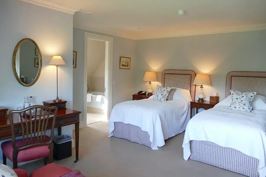 Twin room at the Park House Hotel and Spa, West Sussex, England