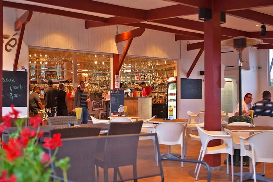 The onsite bar at Yelloh! Village Ilbarritz in the French Basque Country