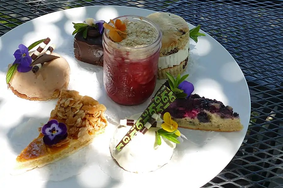 Desserts at Kingsbrae Garden, St Andrews, New Brunswick