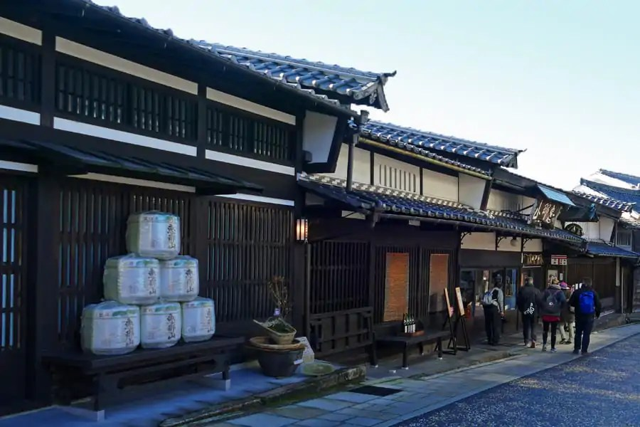 sake brewery in Nakatsugawa on the Nakasendo Way, Japan