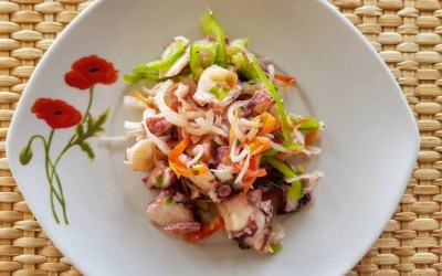 Easy octopus salad recipe from the island of Rodrigues