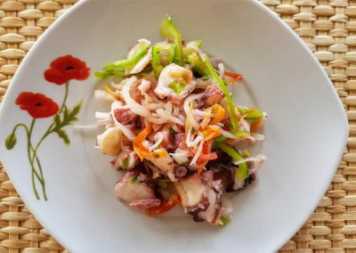 Octopus salad recipe from the island of Rodrigues