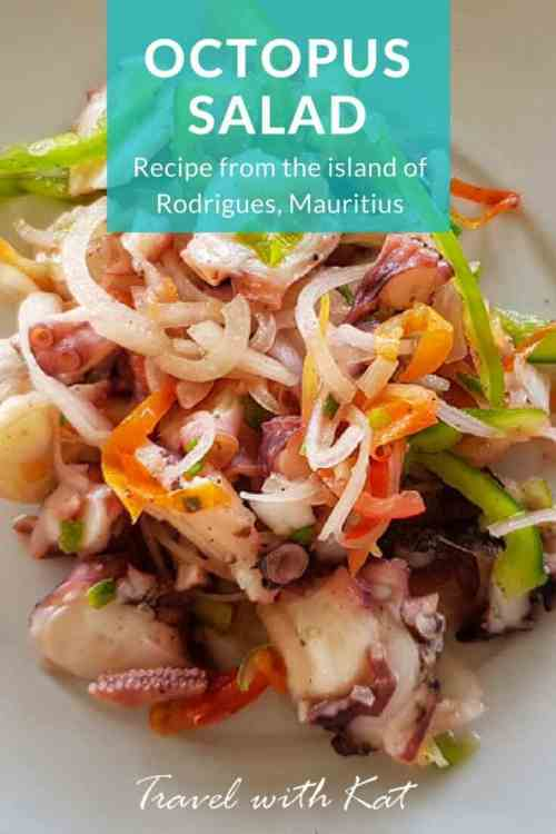 Easy octopus salad recipe from the island of Rodrigues in the Indian Ocean