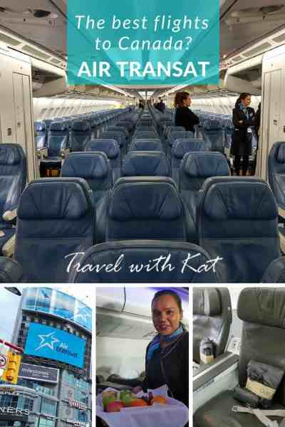 The best flights to Canada? Air Transat Review #Canada #flightreview #AirTransat