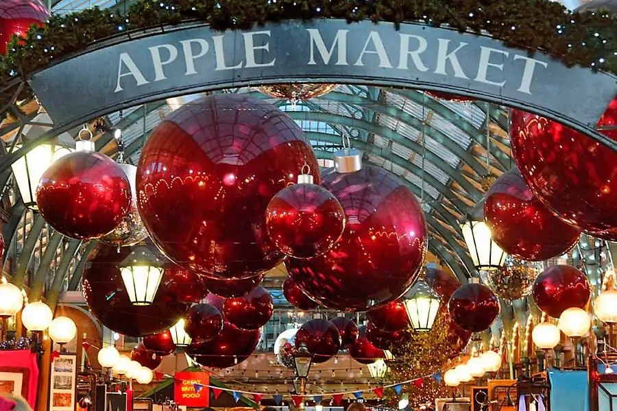 Christmas at Apple Market, Covent Garden, London