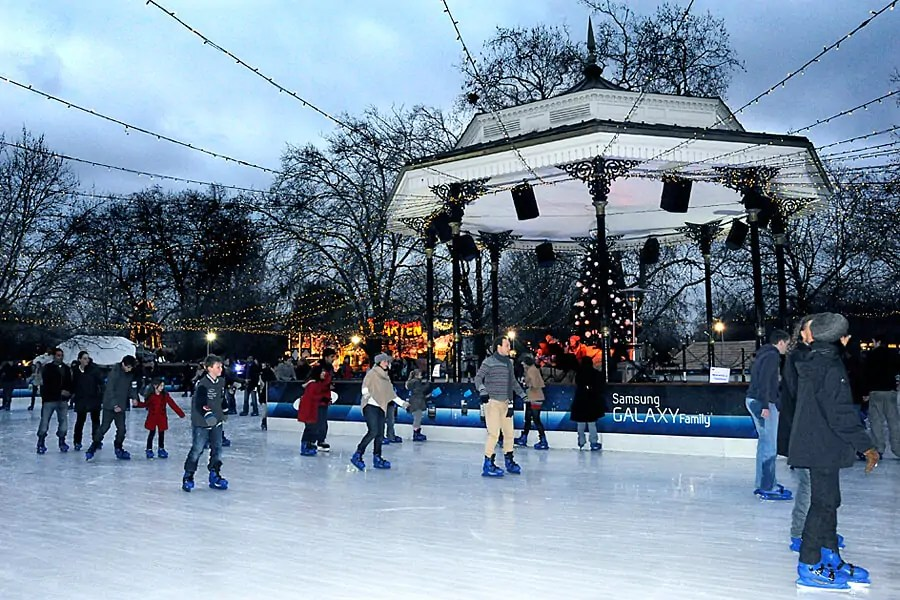 Ice Rink at Hyde Park's Winter Wonderland, London