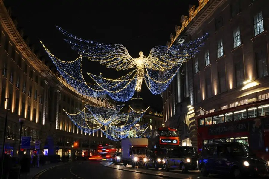 Regent Streets Christmas Lights, London - a must see for Christmas in London