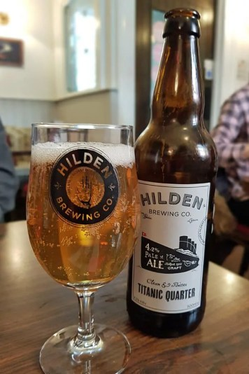 Titanic Quarter pale ale from Hilden Brewing Co.