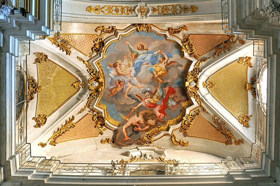 Fresco by Olivio Sòzzi, Basilica di Santa Maria Maggiore , Ispica, Sicily