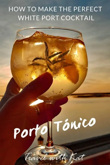 How to make the perfect Porto Tónico, white port cocktail. A P&T is the perfect alternative to a G&T.