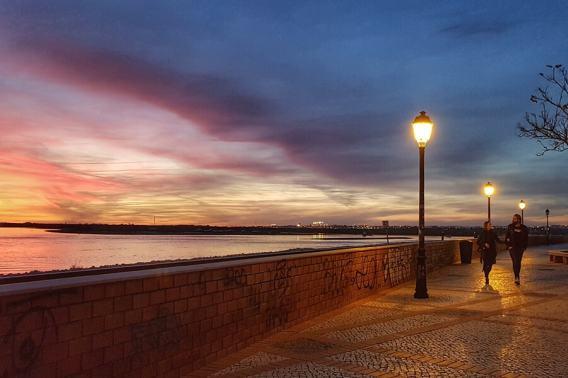 Faro at sunset