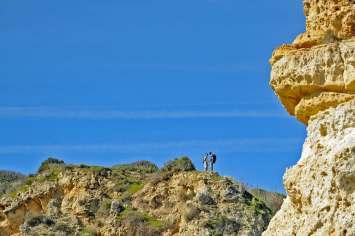 Cliff top walk at Ponta da Piedade