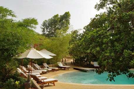 Pool at Souimanga Lodge, Sine Saloum, Senegal
