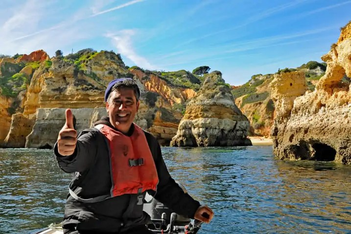 Vitor, our boatman at Ponta da Piedade