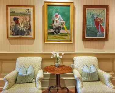 Portraits of all the past RBC Heritage Champions at Sea Pines Resort