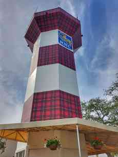 Harbour Town's light house has a tartan makeover for the RBC Heritage tournament