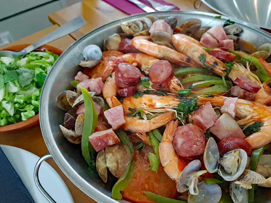 Cataplana, a traditional sea food dish in the Algarve, that's not to be missed