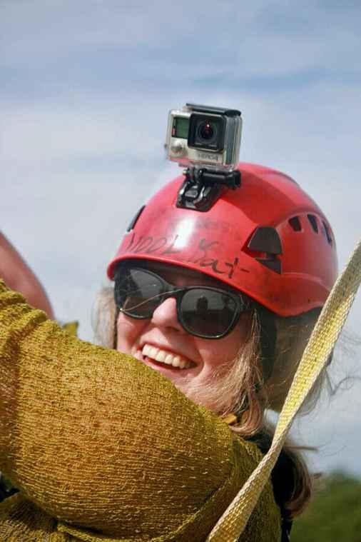 Kat ziplining on Hilton Head Island