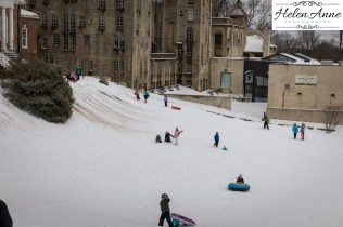 Sledding fun in Doylestown!