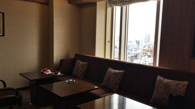 Review Sheraton Miyako Osaka Club Lounge Stühle