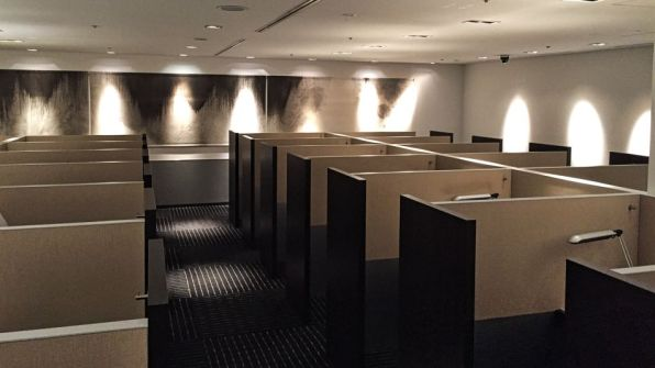 ANA Lounge Tokio Narita Arbeitsbereich Business Center 2