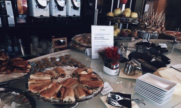 Marco Polo Club Lounge Venedig Blätterteig mit Spinat