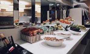 Star Alliance Gold Lounge Warsaw Elite Club Buffet Snacks