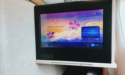 Review Thai Business Class 777 Monitor Thai Business Class