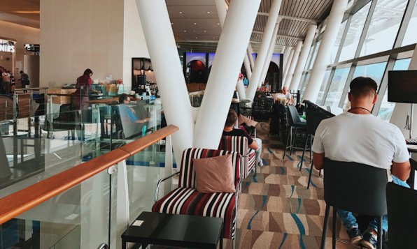 Thai Royal Orchid Lounge Phuket (Temporary) Business Class Lounge Sessel
