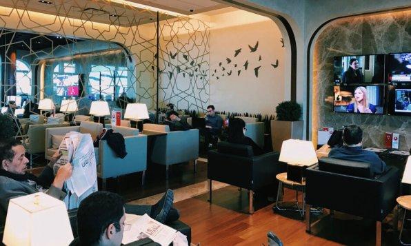 Turkish Airlines Lounge Washington DC Sitzbereich mit Sesseln