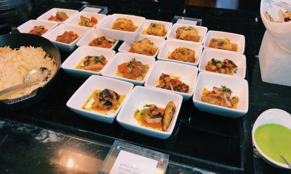 Turkish Airlines Lounge Washington DC Hähnchen und Fisch