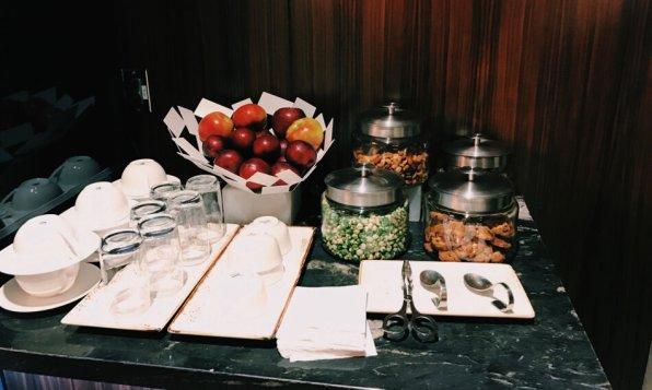 Turkish Airlines Lounge Washington DC Snacks