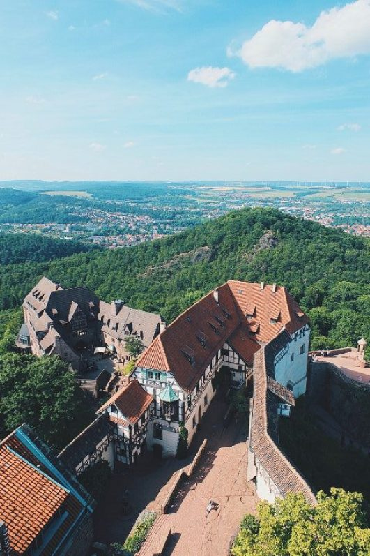 Review - Romantik Hotel Wartburg -Travel with Massi Blick vom Turm