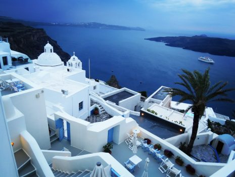 our hotel at Fira