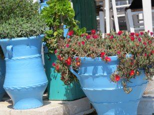 huge blue vase for flowers