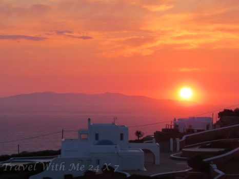 sunset of Mykonos
