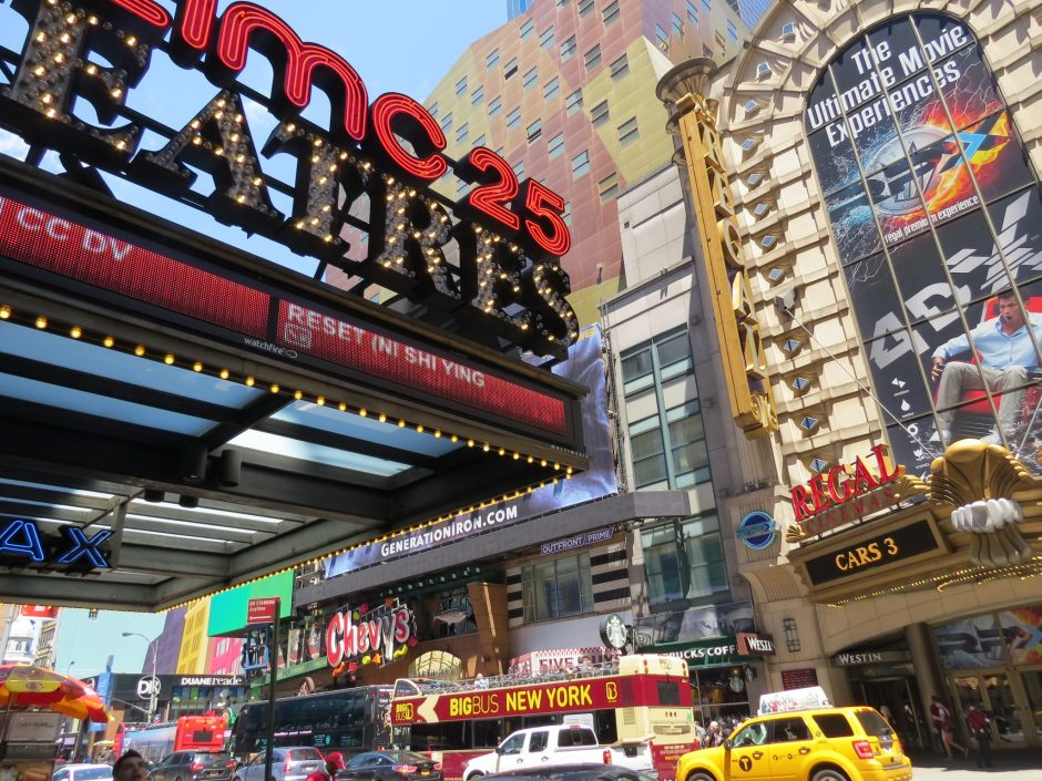 Famous Regal theatre of Times Square