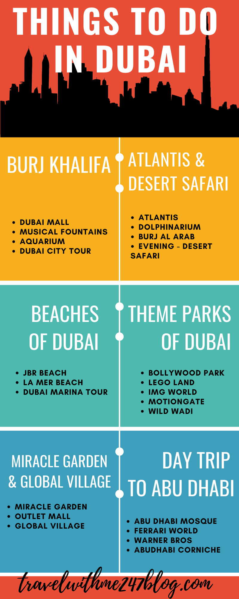 Things to do in Dubai Checklist
