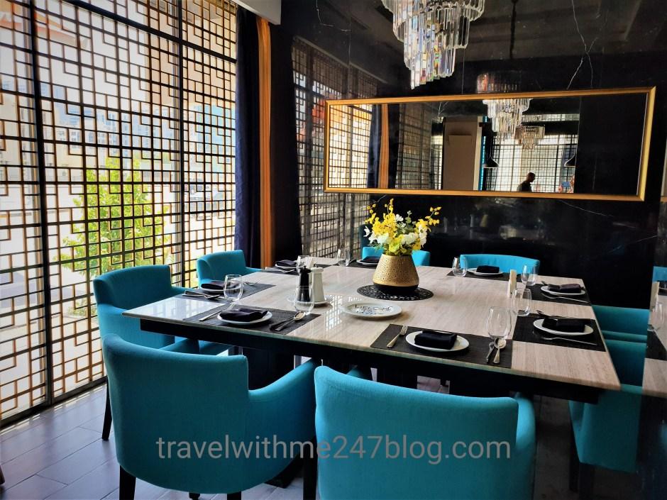 Interiors of Mynt Indian cuisine