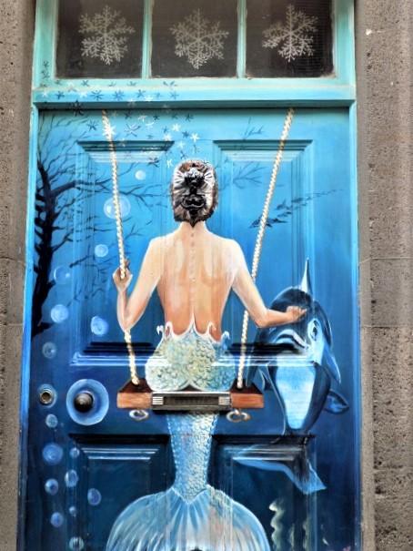 Madeira painted door - Heritage doors