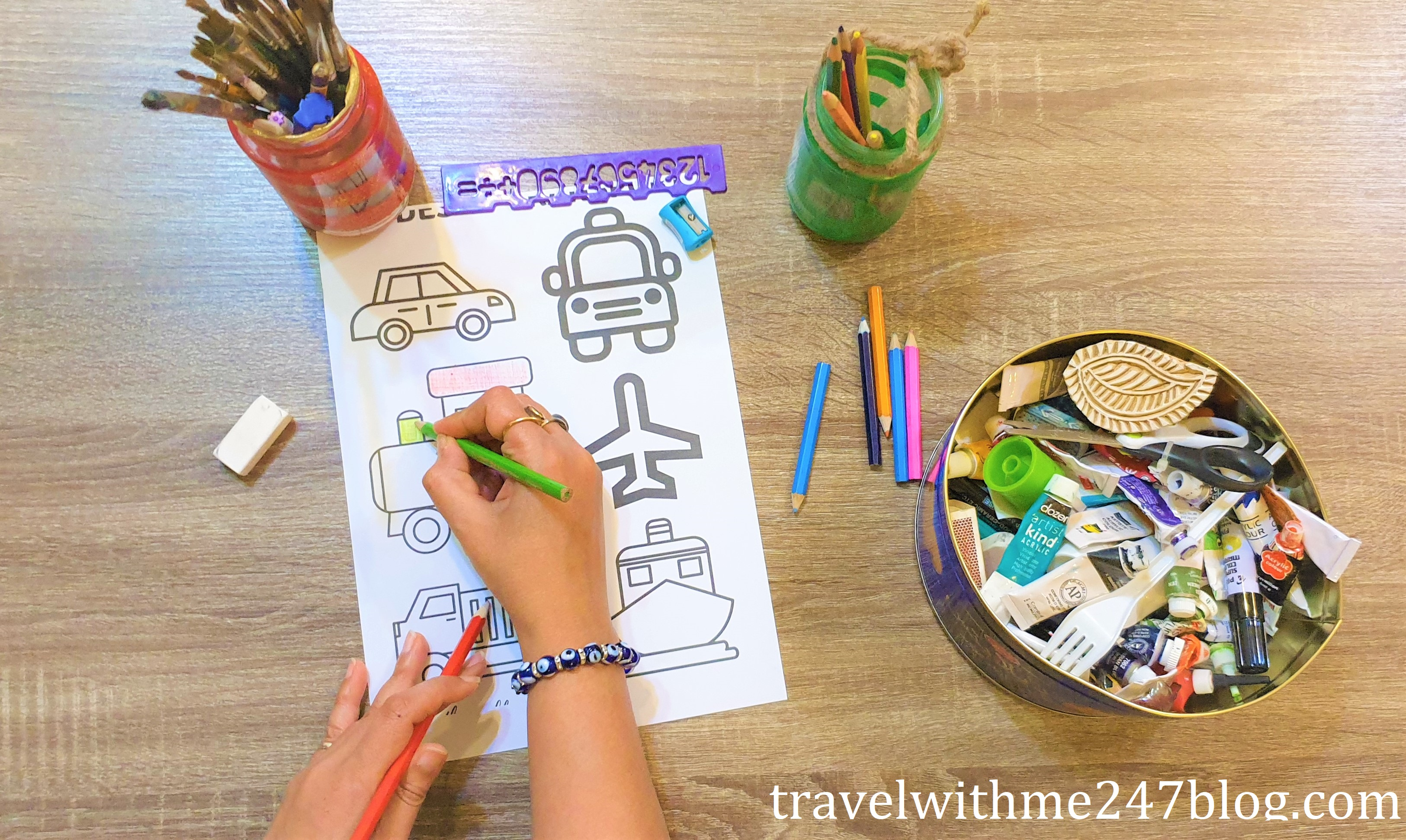 Free Online Coloring Pages - Color Your Travel Memories – Travel With Me 24  X 7