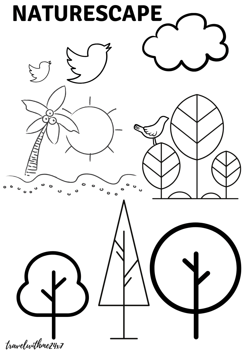 Free Coloring Pages - Color Your Travel Memories