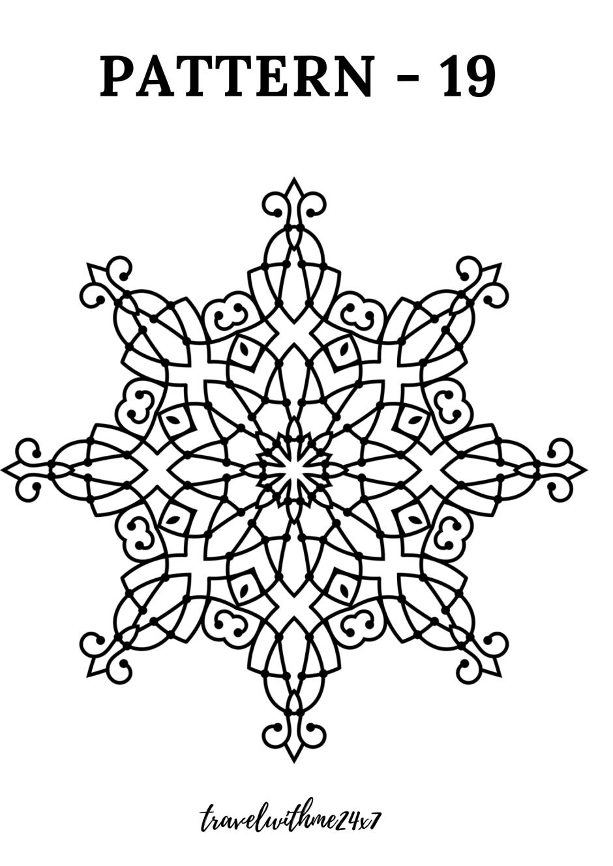 Free Printable Mandala Coloring Pages – Book for Advanced Mandala Designs