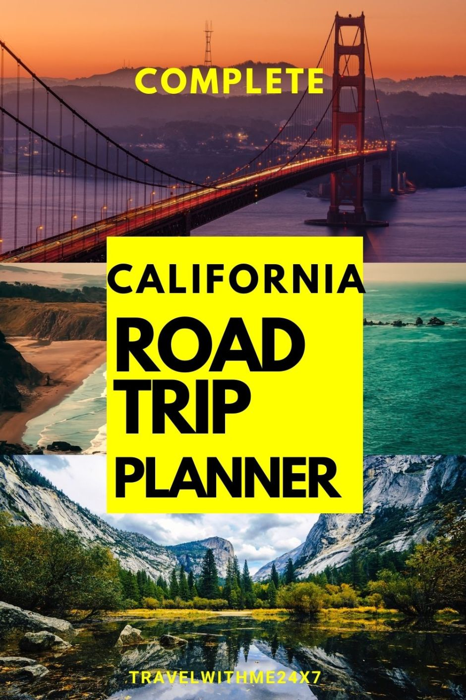 Pin your California road trip planner