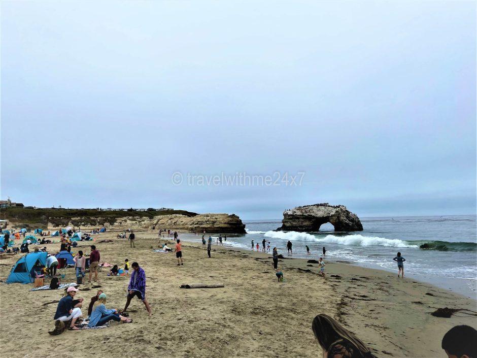 Santa Cruz beach near San Francisco -
