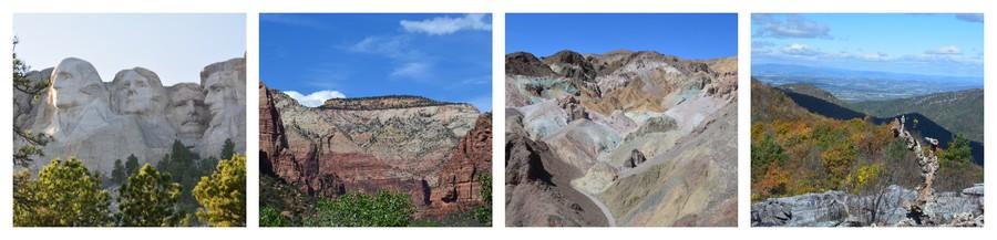 Voyager dans les paysages montagneux des Parcs Nationaux de Mount Rushmore à Shenadovan