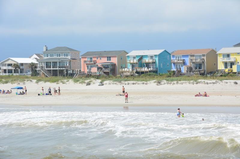 Vue sur Atlantic Beach Caroline du Nord